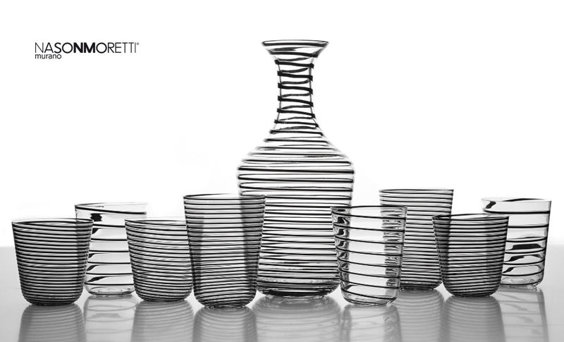 NASONMORETTI Servicio de refrescos Juegos de cristal (copas & vasos) Cristalería   