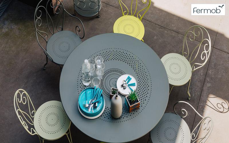 Fermob Mesa de jardín redonda Mesas de jardín Jardín Mobiliario  |