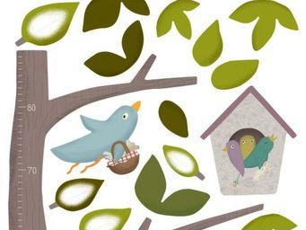 Nouvelles Images - sticker mural arbre toise - Adhesivo