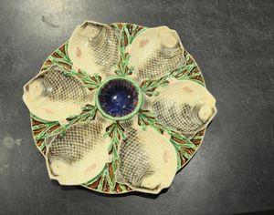 Barbotine Belge Plato de ostras