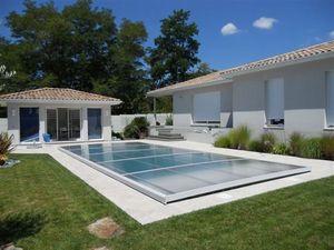 Abri piscine POOLABRI - plateo - Cubierta De Piscina Extra Plana