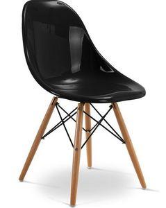Charles & Ray Eames - chaise noire design eiffel sw charles eames lot de - Silla De Recepción