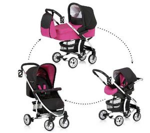 HAUCK - trio malibu all in one - caviar/berry - pack pouss - Silla De Paseo Para Niño