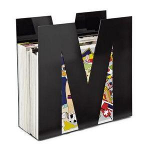 Delta - porte-revues en métal noir forme m - Revistero