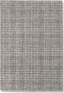WHITE LABEL - davinci tapis quadrillé noir 160x230 cm - Alfombra Contemporánea