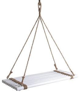 Aubry-Gaspard - plateau suspendu en bois teinté blanc -