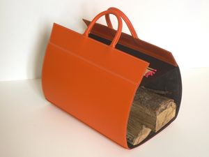 MIDIPY - porte bûches en cuir - Portaleños