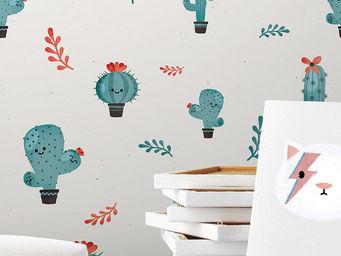 PAPERMINT - cactus bleu - Papel Pintado
