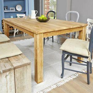 BOIS DESSUS BOIS DESSOUS - table rectangulaire en bois de teck 180 boston - Aparador Bajo