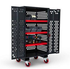 AMORGARD - armoire mobile grillagée fittings cabinet armorgard 1000x750x1880 mm - fc6 - Otro Utensilios Varios