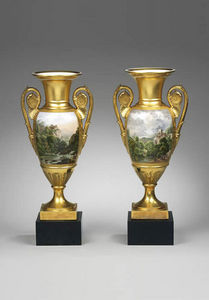 F P FINE ART - porcelain oviforme vases - Jarro Decorativo