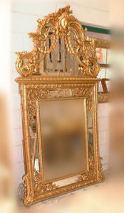 Abj Cheminees Anciennes - miroir 19e siècle, époque napoléon iii - Espejo