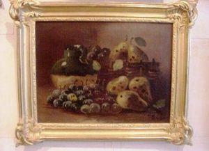 Art & Antiques - nature morte signée gilbert 1839/1905 - Naturaleza Muerta