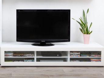 Miliboo - symbiosis meuble tv 1m89 blanc - Mueble Tv Hi Fi