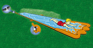 Traditional Garden Games - tapis de glisse splash pour le jardin 5m - Juego Acuático
