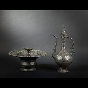 Expertissim - aiguière et son bassin. anatolie, xxe siècle - Aguamanil
