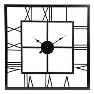 Maisons du monde - horloge usine carrée - Reloj De Cocina