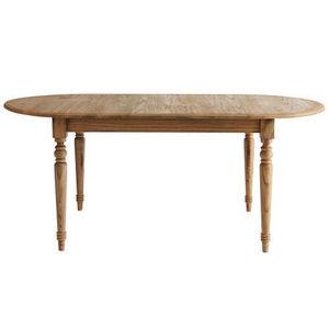 MAISONS DU MONDE - table à dîner chêne naturel faustine - Mesa De Comedor Ovalada