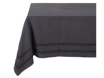 Athezza Home - nappe riga anthracite 150x150cm - Mantel Rectangular