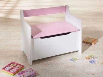 Up Trade - banc et coffre jouets rose et blanc lene - Ba�l Para Juguetes