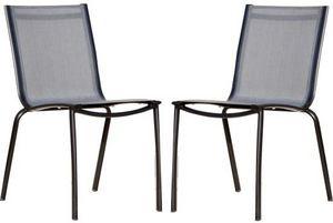 PROLOISIRS - chaise linea en aluminium et textilène argent (lot - Silla De Jardín