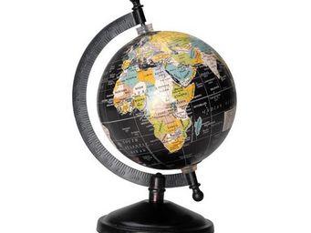 NetCadeau - globe terrestre noir petit mod�le - Globo Terrestre