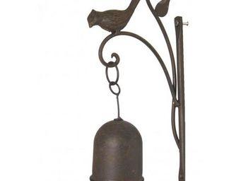 L'HERITIER DU TEMPS - carillon mural oiseau en fonte - Campana De Exterior