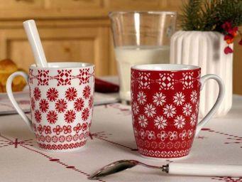 Interior's - mug no�l enchant� - Vajilla Para Navidad Y Fiestas