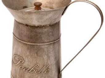 Antic Line Creations - poubelle broc en zinc - Papelera De Cuarto De Ba�o