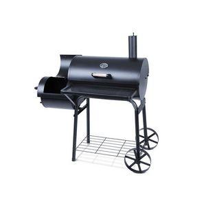 WHITE LABEL - barbecue charbon avec thermomètre l - Barbacoa De Carbón
