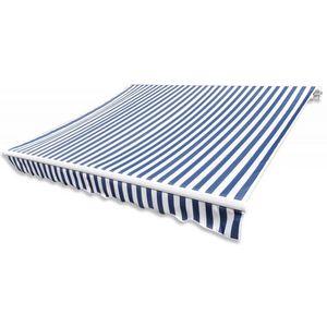 WHITE LABEL - store banne manuel de jardin rétractable 6 x 3 m auvent tonnelle pavillon - Toldo