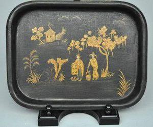 Demeure et Jardin - petit plateau motif chinois - Bandeja