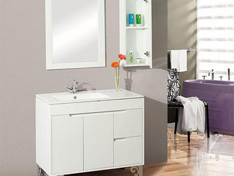 UsiRama.com - meuble salle de bain pas cher yepo rangement 80cm - Mueble Bajobañera