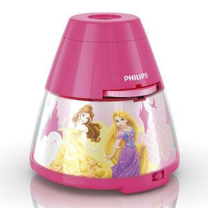 Philips - disney - veilleuse à pile projecteur led rose prin - Lámpara Para Dormir Para Niño