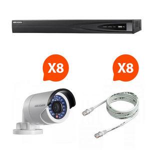 CFP SECURITE - videosurveillance - pack nvr 8 caméras vision noct - Cámara De Vigilancia