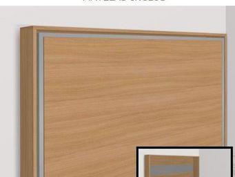 WHITE LABEL - armoire lit escamotable athena, cerisier. matelas - Armario Cama