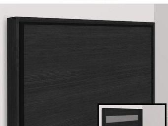 WHITE LABEL - armoire lit escamotable athena, chêne noir. matela - Armario Cama