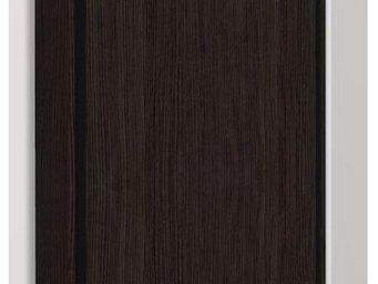WHITE LABEL - armoire lit escamotable eos, chêne noir. matelas t - Armario Cama