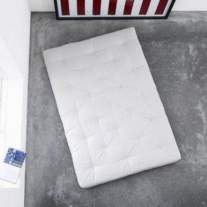 WHITE LABEL - matelas futon traditionnel écru 180*200cm - Futón
