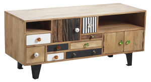 Aubry-Gaspard - meuble tv original en manguier - Mueble Tv Hi Fi