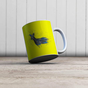 la Magie dans l'Image - mug chevreuil jaune - Taza