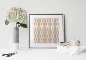 la Magie dans l'Image - print art lotus petit beige blanc - Póster