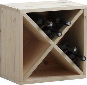 Aubry-Gaspard - casier de rangement 16 bouteilles en epicéa - Botellero