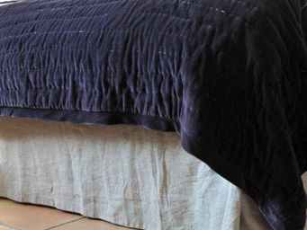 MAISON D'ETE - cache sommier lin lavé naturel - Cubre Somier