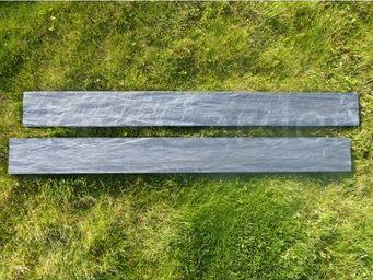 CLASSGARDEN - bordure piquet d'ardoise scie 1 mètre - pack de 2 - Borde De Jardín
