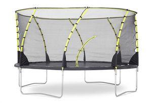 Plum - trampoline avec filet innovant 3g whirlwind 426 cm - Cama Elástica