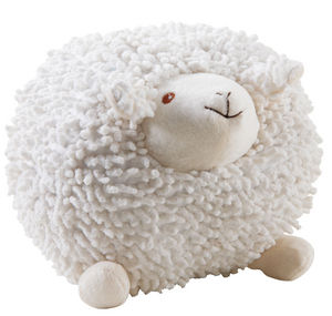 Aubry-Gaspard - mouton à suspendre en coton blanc shaggy moyen mod - Peluche