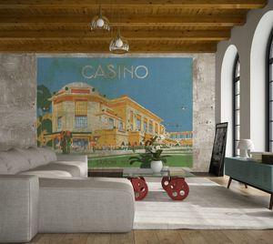 IN CREATION - casino peinture sur béton - Papel Pintado Panorámico