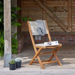 BOIS DESSUS BOIS DESSOUS - chaise en bois d'acacia fsc et textilène - Silla De Jardín