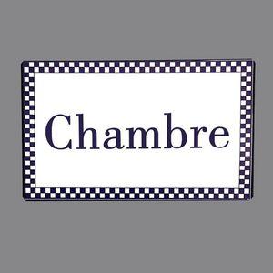 CHEMIN DE CAMPAGNE -  - Placa Para Puertas